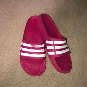 Pink and White Adidas!